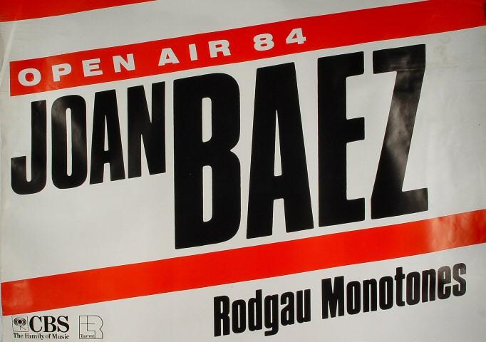 "Joan Baez Poster from Offenbach Stadium on 11 Jun 84: 23 1/4"" x 32 3/4"""