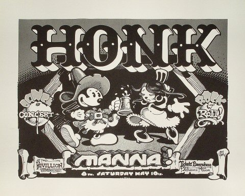 "Honk Poster from Orange County Fairgrounds on 10 May 75: 17 1/2"" x 22"""