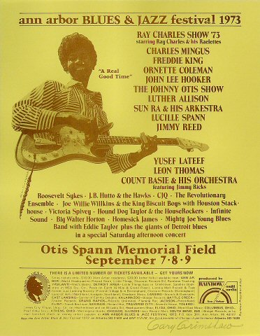 "Freddie King Handbill from Otis Spann Memorial Field on 07 Sep 73: 8 1/2"" x 11"""