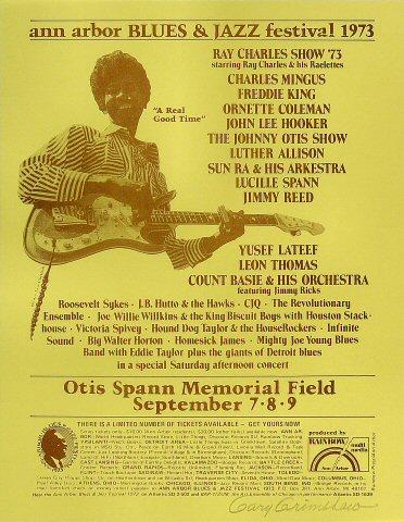 "Freddie King Handbill from Otis Spann Memorial Field on 07 Sep 73: 8 1/2"" x 11"""