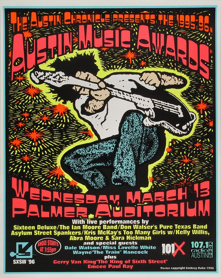 """Sixteen Deluxe Poster from Palmer Auditorium on 13 Mar 96: 17"""" x 21 1/8"""""""