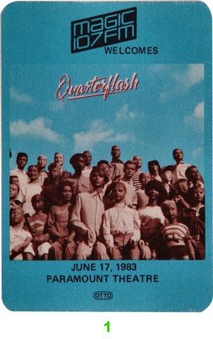 Quarterflash Backstage Pass from Paramount Theatre Portland on 17 Jun 83: Pass 1