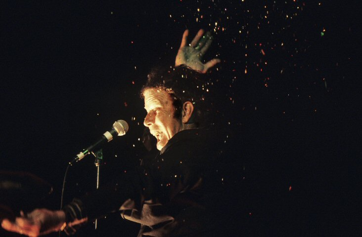 Tom Waits BG Archives Print from Paramount Theatre Portland on 10 Jun 99: 11x14 C-Print