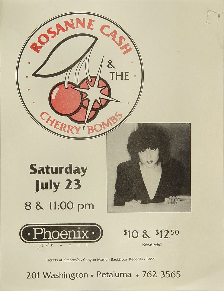 "Rosanne Cash Handbill from Phoenix Theatre on 23 Jul 83: 8 1/2"" x 11"""