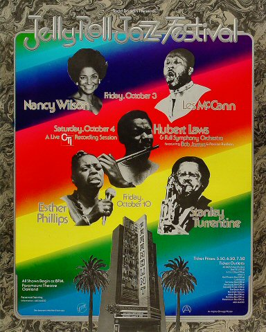 "Nancy Wilson Poster from Paramount Theatre on 03 Oct 75: 16 1/4"" x 20 1/4"""