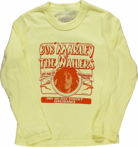 Bob Marley and the Wailers Kid's Retro T-Shirt from Paramount Theatre on 29 May 76: Kid 12