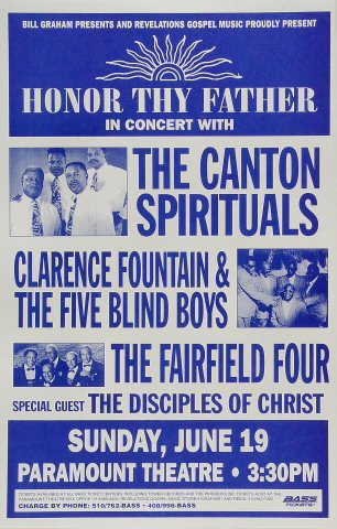 "Canton Spirituals Poster from Paramount Theatre on 19 Jun 94: 11"" x 17"""