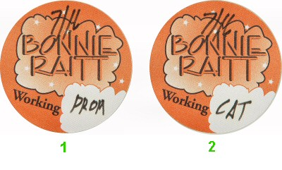 Bonnie Raitt Backstage Pass from Paramount Theatre on 16 Jul 95: Pass 1