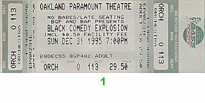 Mark Curry 1990s Ticket from Paramount Theatre on 31 Dec 95: Ticket One