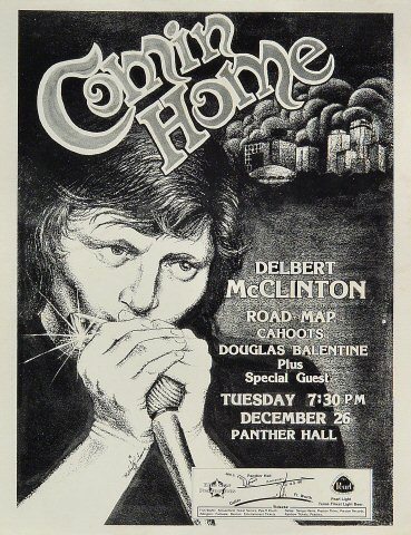 "Delbert McClinton Handbill from Panther Hall on 26 Dec 78: 8 1/2"" x 11"""