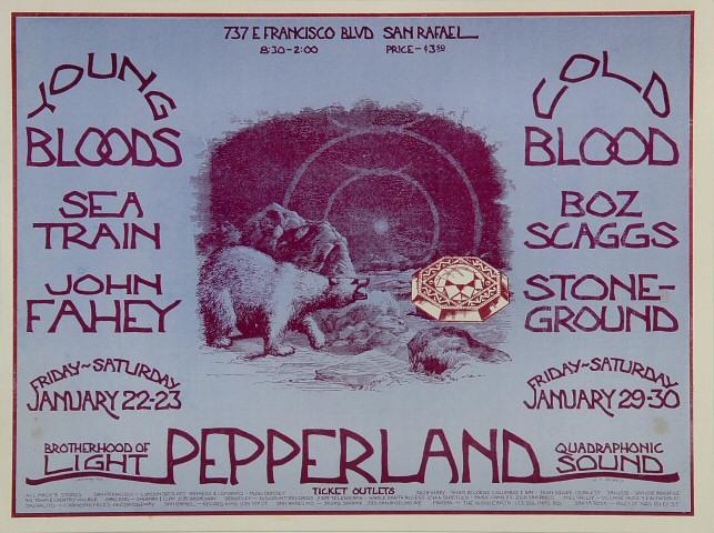 "Seatrain Handbill from Pepperland on 22 Jan 71: 6 7/8"" x 9 1/4"""