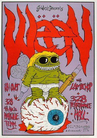 "Ween Poster from Performance Hall on 04 Oct 96: 15 3/4"" x 22 3/8"""
