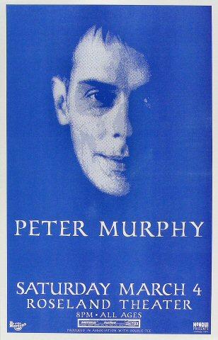 """Peter Murphy Poster from Portland Rose Garden on 04 Mar 00: 11"""" x 17"""""""