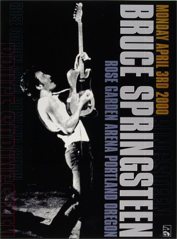 "Bruce Springsteen Poster from Portland Rose Garden on 03 Apr 00: 13"" x 17 1/2"""