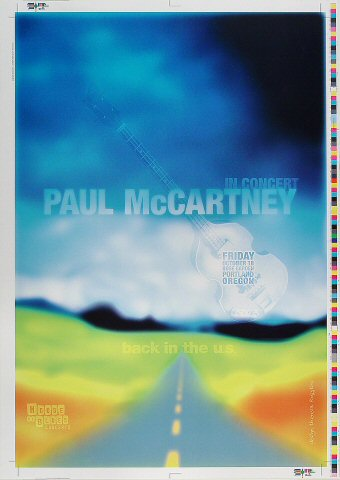 "Paul McCartney Proof from Portland Rose Garden on 18 Oct 02: 14 5/8"" x 20 3/4"""