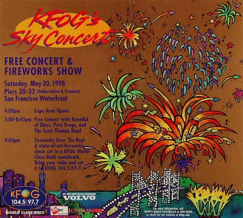 """Roomful of Blues Poster from Pier 30/32 on 30 May 98: 13"""" x 14 1/2"""""""