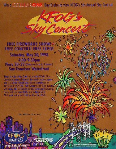"""Roomful of Blues Poster from Pier 30/32 on 30 May 98: 11 1/8"""" x 14 1/16"""""""