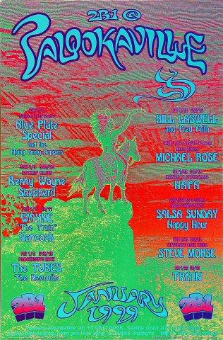 """Blue Plate Special Handbill from Palookaville on 02 Jan 99: 4"""" x 6"""""""