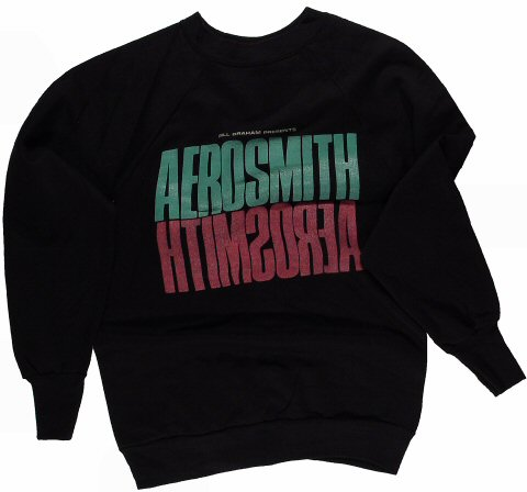 Aerosmith Men's Vintage Sweatshirts from Portland Memorial Coliseum on 16 Jan 86: X Large
