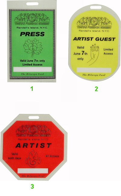 A Tribe Called Quest Laminate from Randall's Island on 07 Jun 97: Laminate 1