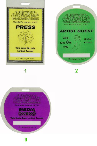 A Tribe Called Quest Laminate from Randall's Island on 08 Jun 97: Laminate 1