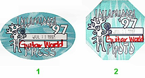 Orbital Backstage Pass from Randall's Island on 11 Jul 97: Pass 1