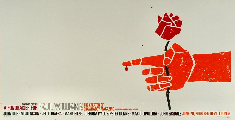 "John Doe Poster from Red Devil Lounge on 28 Jun 09: 13 3/8"" x 26"""