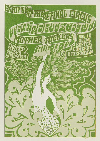"Tom Northcott Handbill from Retinal Circus on 13 Aug 68: 5"" x 7"""