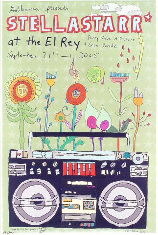 "stellastarr* Poster from El Rey Theatre on 21 Sep 05: 12"" x 18"""
