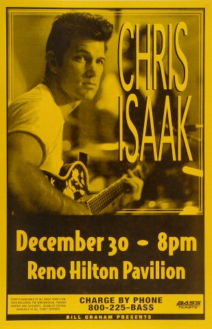 "Chris Isaak Poster from Reno Hilton Pavilion on 30 Dec 97: 11"" x 17"""