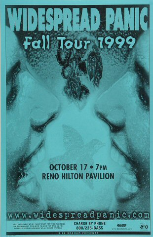 "Widespread Panic Poster from Reno Hilton Pavilion on 17 Oct 99: 11"" x 17"""