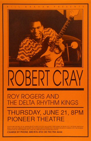"Robert Cray Poster from Pioneer Theatre on 21 Jun 90: 11"" x 17"""