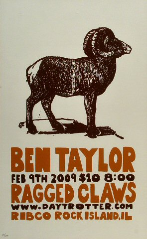 "Ben Taylor Poster from Ribco on 09 Feb 09: 11 1/8"" x 18"""