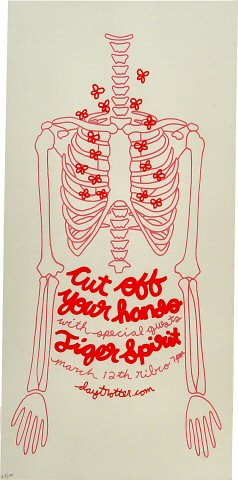 "Cut Off Your Hands Poster from Ribco on 12 Mar 09: 7 5/8"" x 15 1/2"""
