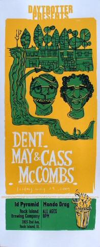 """Dent May Poster from Ribco on 29 May 09: 7 3/8"""" x 18"""""""