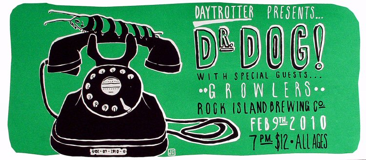 "Dr. Dog Poster from Ribco on 09 Feb 10: 8"" x 18"""