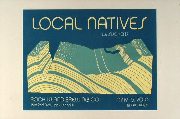 "Local Natives Poster from Ribco on 15 May 10: 12 1/2"" x 19"""