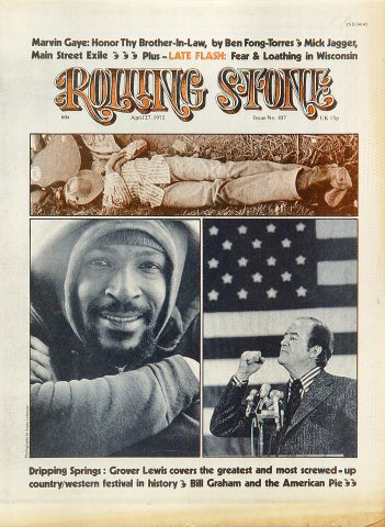 Marvin Gaye Rolling Stone Magazine  on 27 Apr 72: Magazine