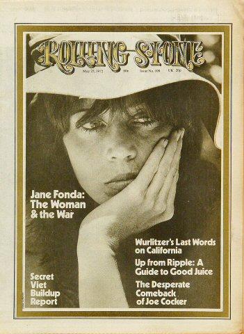 Jane Fonda Rolling Stone Magazine  on 25 May 72: Magazine