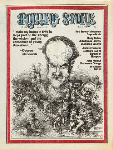 Rod Stewart Rolling Stone Magazine  on 08 Jun 72: Magazine