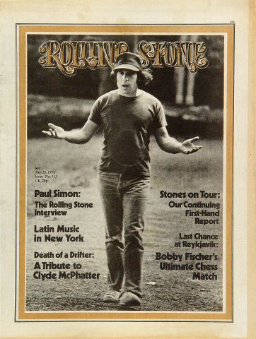 Paul Simon Rolling Stone Magazine  on 20 Jul 72: Magazine