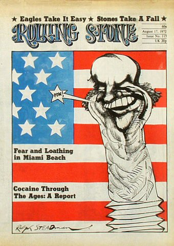 The Eagles Rolling Stone Magazine  on 17 Aug 72: Magazine