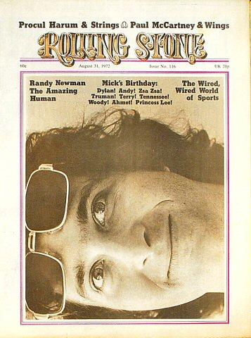 Randy Newman Rolling Stone Magazine  on 31 Aug 72: Magazine