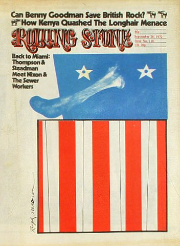 Benny Goodman Rolling Stone Magazine  on 28 Sep 72: Magazine