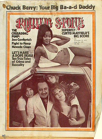 Curtis Mayfield Rolling Stone Magazine  on 23 Nov 72: Magazine