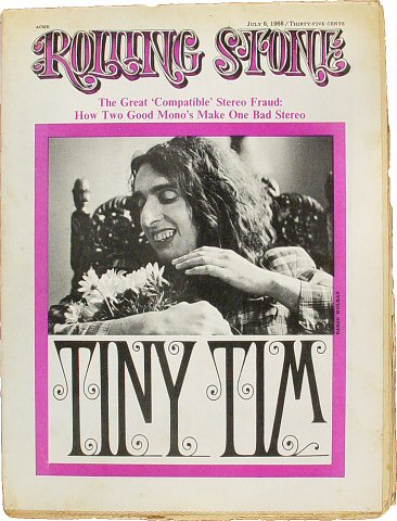 Tiny Tim Rolling Stone Magazine  on 06 Jul 68: Magazine