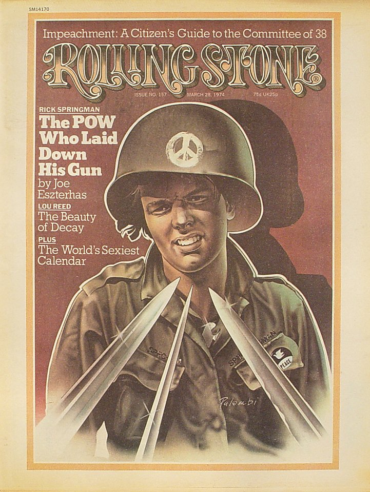 Lou Reed Rolling Stone Magazine  on 28 Mar 74: Magazine