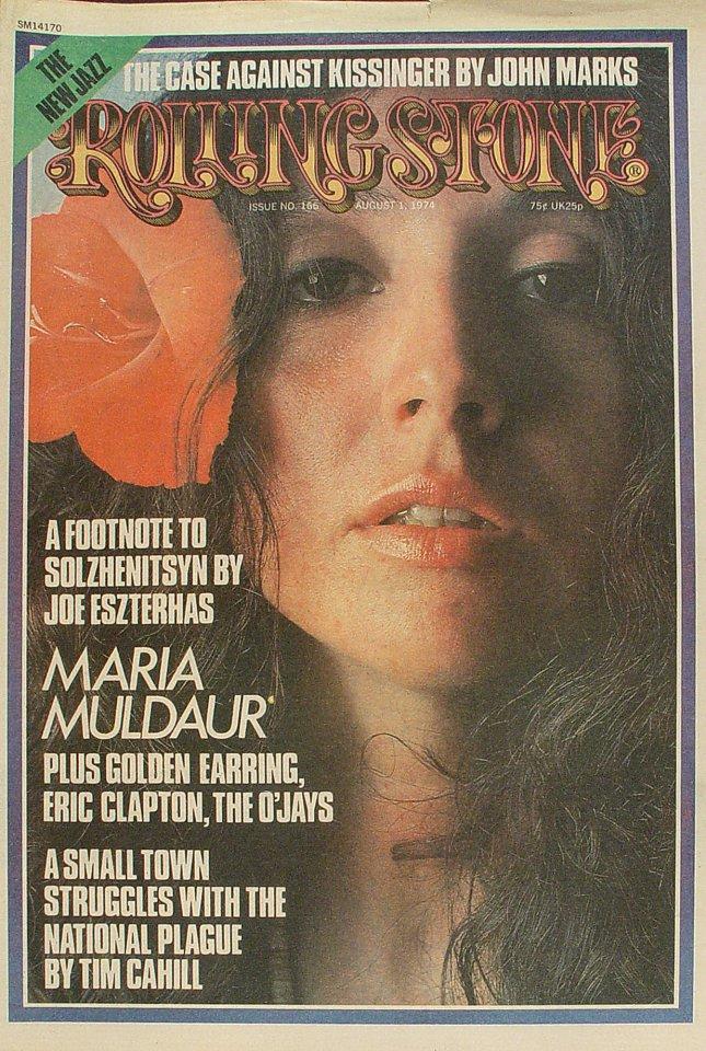 Maria Muldaur Rolling Stone Magazine  on 01 Aug 74: Magazine