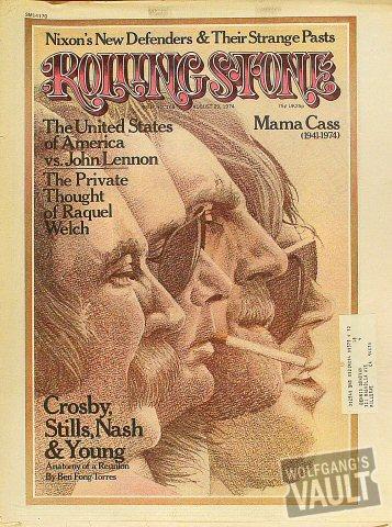Crosby, Stills, Nash & Young Rolling Stone Magazine  on 29 Aug 74: Magazine