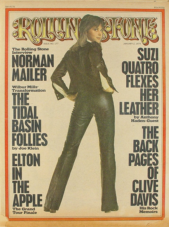 Suzi Quatro Rolling Stone Magazine  on 02 Jan 75: Magazine